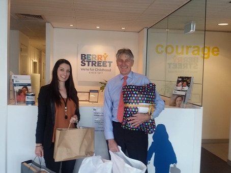 Gifts donated to Berry Street in Lieu of Birthday Presents