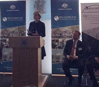 Launch of the New Colombo Plan, Bennelong Foundation Cross Cultural Pre Departure Training Programme