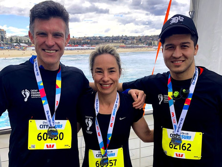Team Bennelong participate in City2Surf