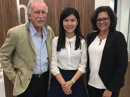 Catch up with our inaugural Bennelong intern Claire Zheng