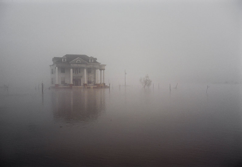 HIGH WATER ON MISSISSIPPI DELTA, YAZOO RIVER 1983