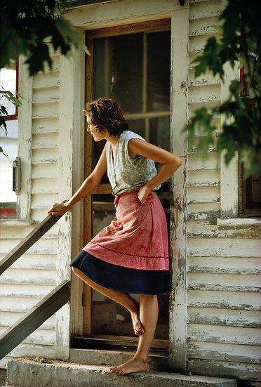 WOMAN AT KITCHEN DOOR, NEW HAVEN, VERMONT 1973