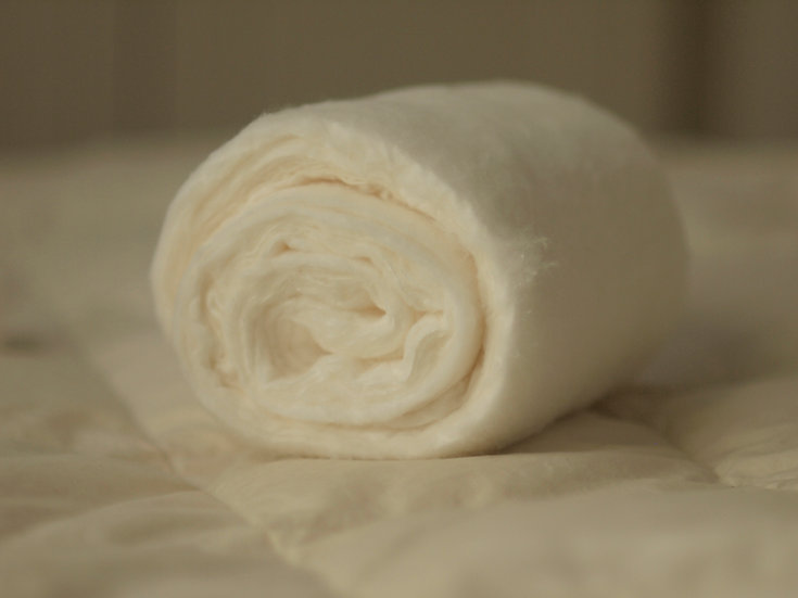 WHITE GOODS #9 (ROLLED TEXTILE)