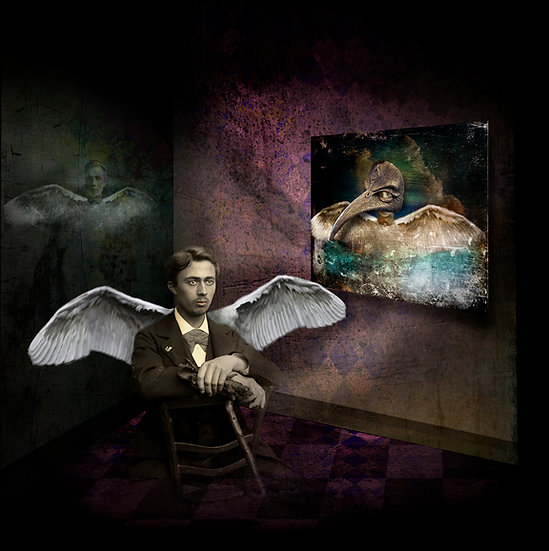 SITTING MAN WITH WINGS