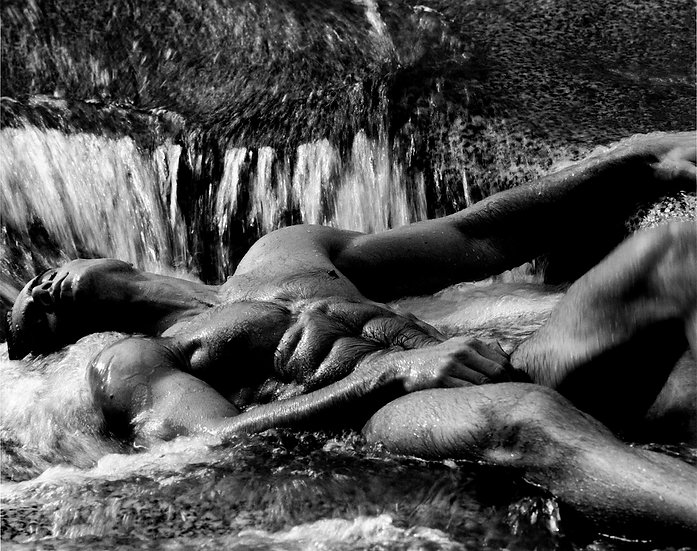 SCOTT IN WATERFALL, CABO SAN LUCAS (1990)