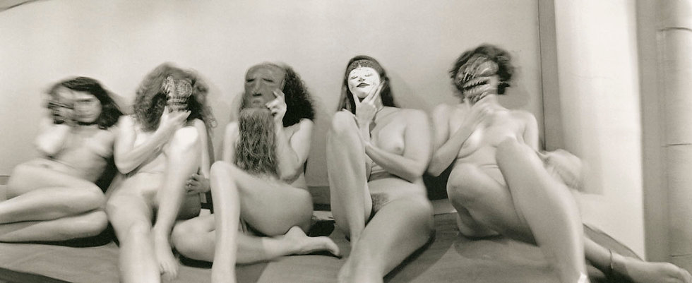 MASKED WOMEN; STOCKBRIDGE, 1996