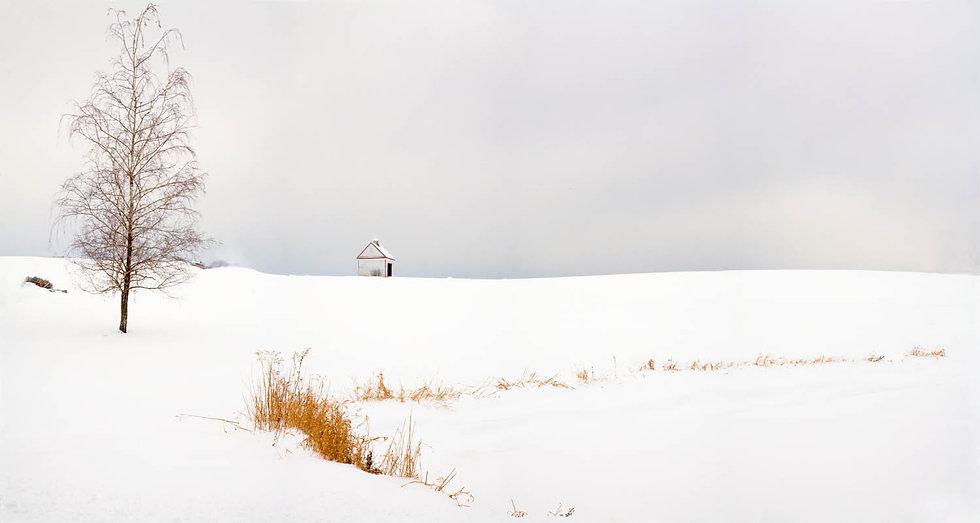 FARM IN SNOW