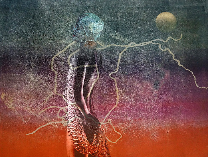 WOMAN AND THE MOON