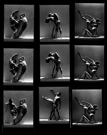 REX & GREGORY CONTACT SHEET, LOS ANGELES 1988