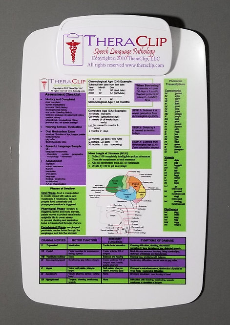 Speech Therapy Clipboard