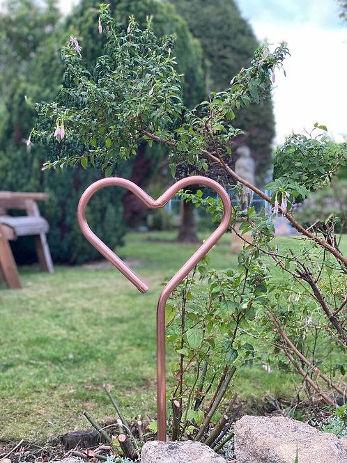 Copper Garden Heart