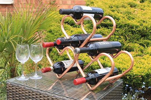 Love Wine Copper Wine Rack