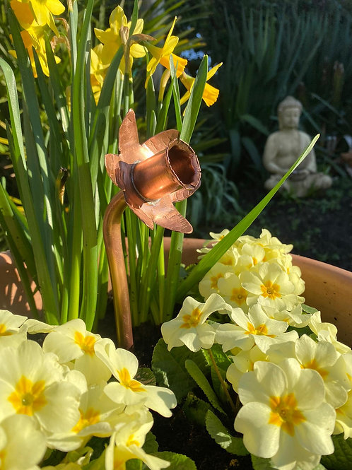 Copper Daffodil for Marie Curie