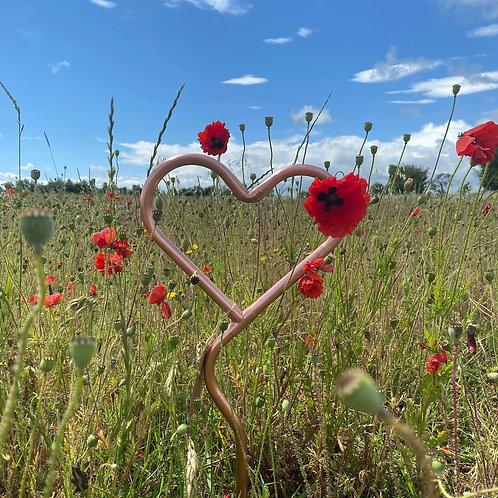 """Original Style"" Copper Garden Heart"