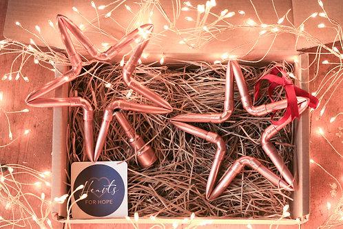 Mini Copper Star and Tree Topper Gift Box
