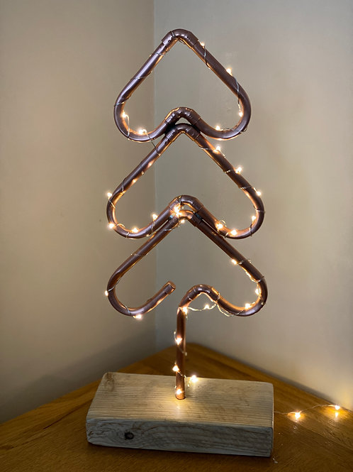 Heart Christmas Tree with Wooden Stand