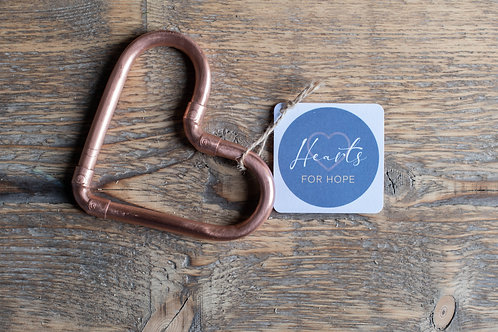 Hanging Mini Copper Heart
