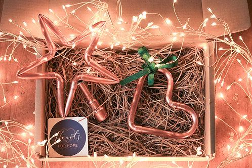 Mini Copper Heart and Tree Topper Gift Box
