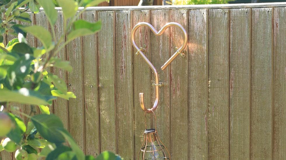 Hooked on Love Copper Heart Hook