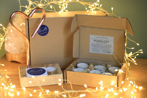 Burning Love and Scented Tea Light Gift Box