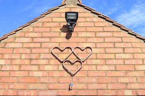 Trio Copper Wall Hearts