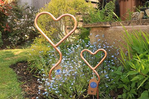 """""""Original Style"""" Mini Copper Garden Heart"""