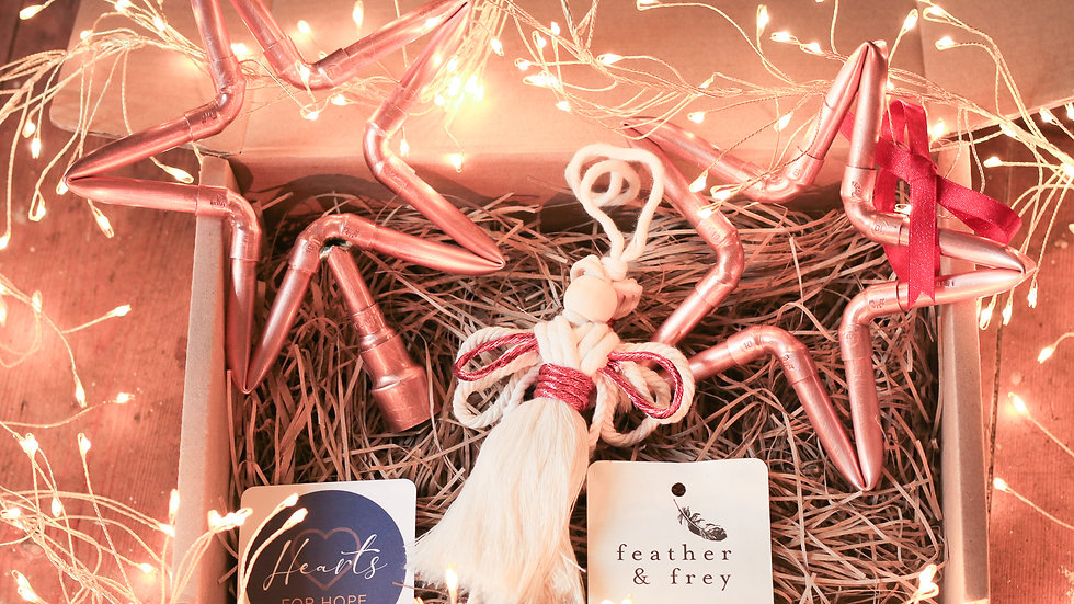 Angel, Tree Topper and Star Gift Box