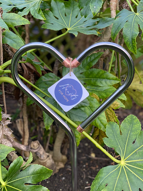 Chrome Garden Heart
