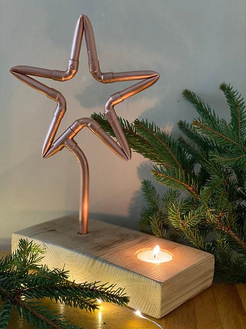 Burning Star Tea Light Holder
