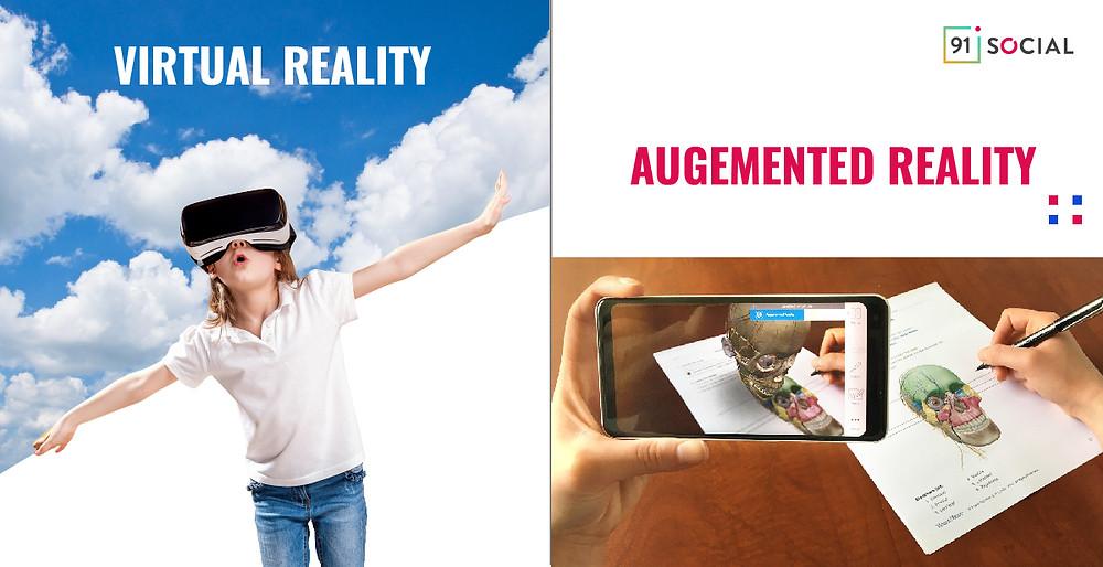 Child enjoying VR content