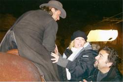 John having fun with Russell Crowe
