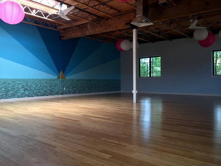 Inhabitance Dance Floor at The People's Yoga Room Sarah Hall and Linnea Solveig