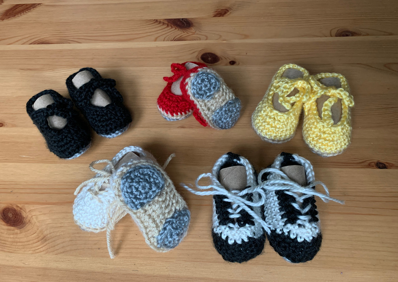 Crochet Baby Tap Shoes