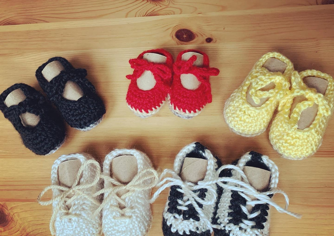 Crocheted Baby Tap Shoes