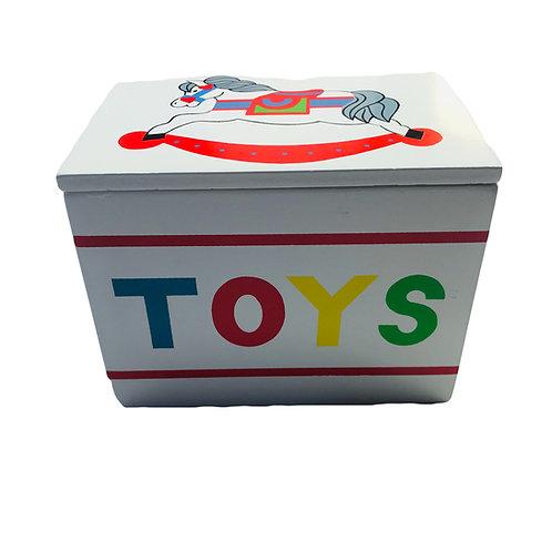 Vintage Toy Box + Wooden Figurines