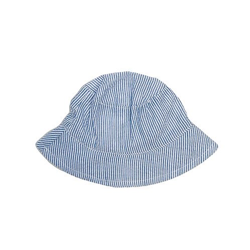 Striped Seersucker Sun Hat