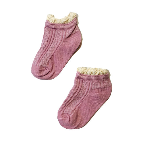 Vintage Cable Frill  Socks