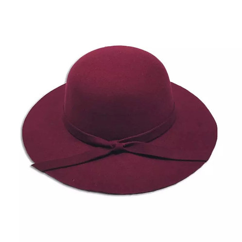 Burgundy Wool Felt Hat