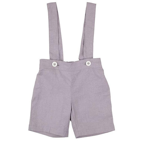 Navy Suspender Shorts