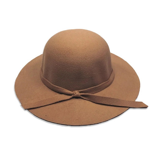 Beige Wool Felt Hat