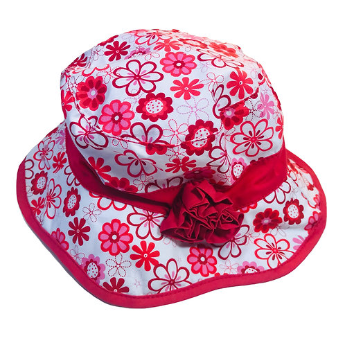 Red Floral Sun Hat