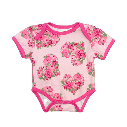 Pink Flower Bodysuit