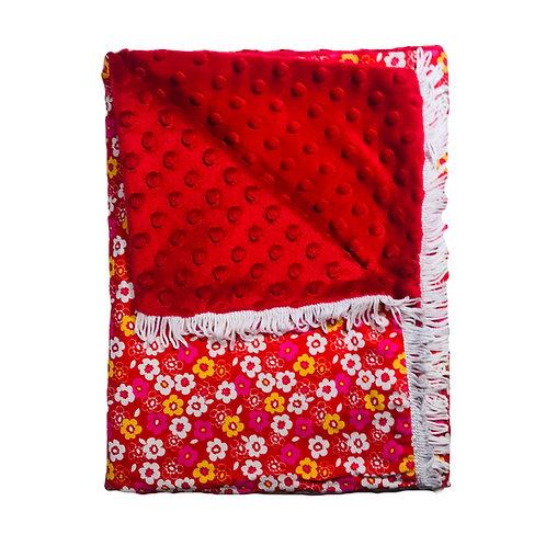 Red Floral Blanket