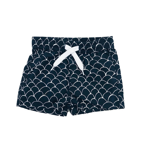 Navy Fish Scale Boardies