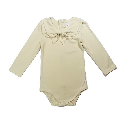 Long Sleeve Bow Collar Bodysuit
