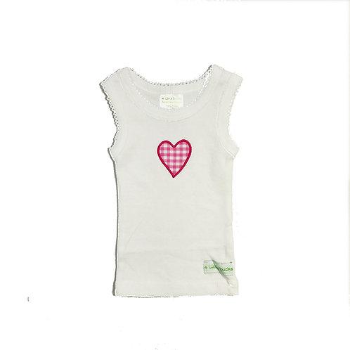 Pink Heart Singlet