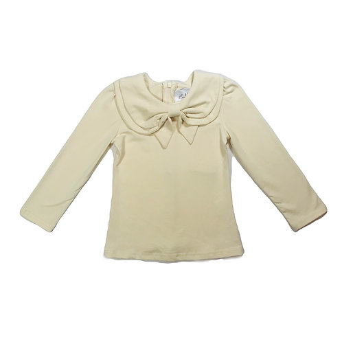 Long Sleeve Bow Collar Tee