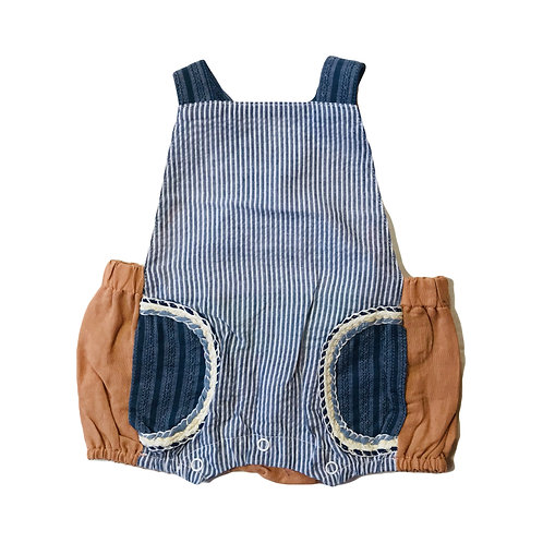 Denim Stripe Overall