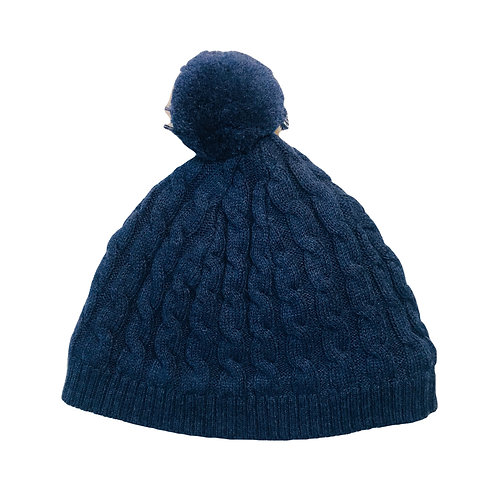Navy Cable Beanie