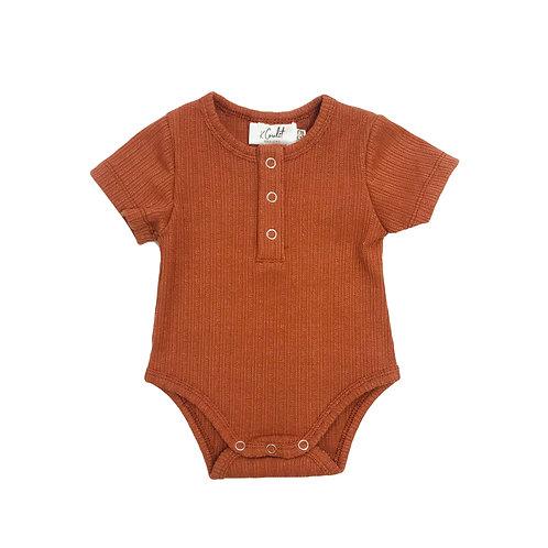 Rust Henley Bodysuit